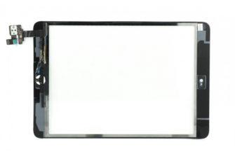 Тачскрин iPad Mini/iPad Mini 2 (A1454/A1455/A1490) с коннектором и кнопкой Home (черный) с коннектором (микросхемой), монтажным скотчем и кнопкой Home (черный) купить онлайн за 600 рублей с доставкой по Москве