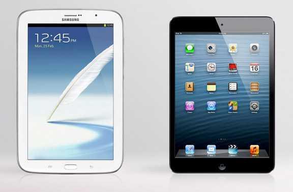 Galaxy Note 8.0 vs. iPad mini