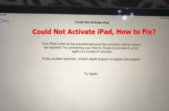 FIXED: Your iPad Could Not Be Activated Because the Activation Server Cannot Be Reached