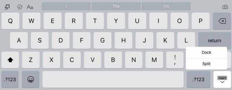 Как использовать экранную плавающую клавиатуру в iPadOS 13