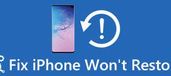 Лучшие способы исправить iPhone не будут восстановлены