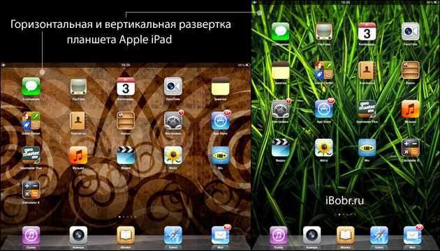 Включение автоповорота на iPad